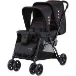 Knorr Baby Tandem Pram Stroller black - Collection 2015