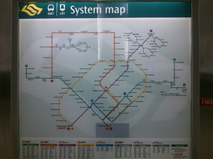 First thing to do. Learn this map! #SingaporeTrip