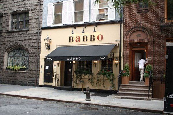 Babbo-  one of Mario Batali's restaurants in NYC...delish!  Bar staff are fantastic!