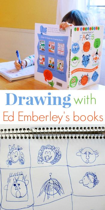 Kids Drawing with Ed Emberley's How to Draw Books -- Have your kids explored How to Draw books or drawing instruction? If so, how did they like it and how it has affected their drawing skills & interest in drawing?