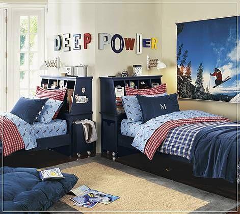 diseño de dormitorios infantiles para varones