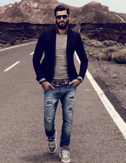 Jeans Blazer Sneakers Mens Fashion Pinterest