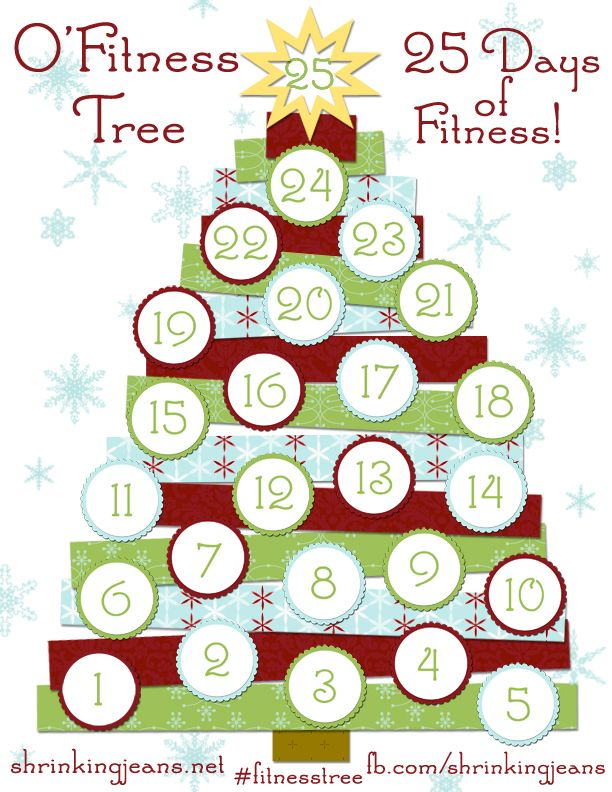O'Fitness Tree: 25 Days of Fitness with @shrinkingjeans! #exercise #fitness #workoutcalendar
