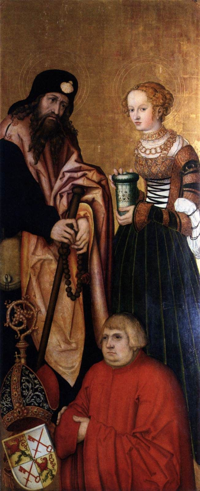 ❤ - LUCAS CRANACH (1472 - 1553) - Altar wing (right, inner side) - 1537. Cathedral, Naumburg.