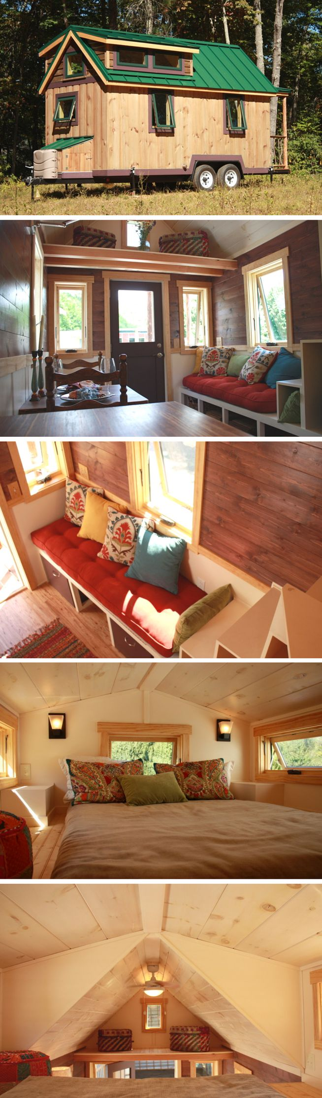 The FitNest: a tiny house designed and built by Blue Ridge Tiny Homes for a couple who wanted a home to work out in. The home comes with a variety of workout equipment to help the couple stay in shape!