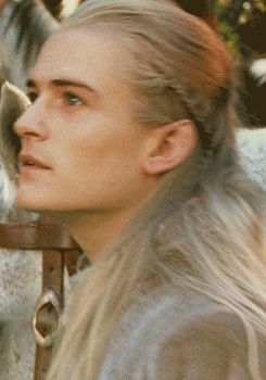 legolas. This was the moment when I fell for him. When he first rode up to rivendell, I was like oh my gosh. He's hot. Mine!