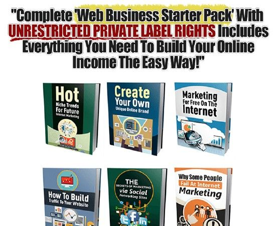 Unrestricted PLR All-In-One Marketing Pack!