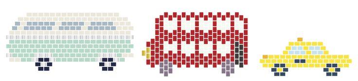 Диаграмма комби, английский автобусы и такси Миюки бисер - http://blog.la-petite-epicerie.fr/