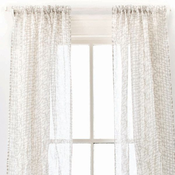 pine cone hill veena grey window panel 115 liked on polyvore featuring home