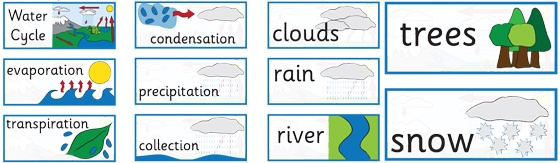Water Cycle Labels http://displays.tpet.co.uk/#/viewPost/id843 ...