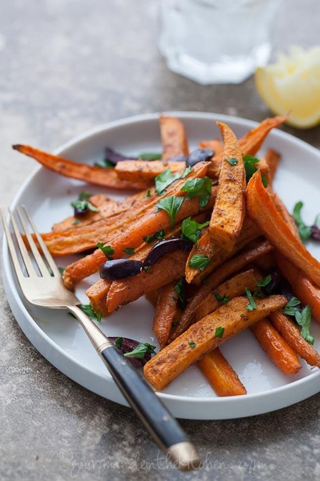 14 Delicious carrot dishes for spring -- moroccan-spiced-roasted-sweet-potatoes-carrots