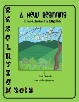New Year Resolution 2013: A New Beginning! 15 Little Activities For Big Kids!