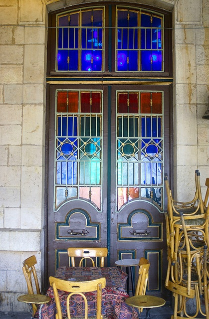door of the old trainstation in the city of Damascus, now it is a museum    Syria