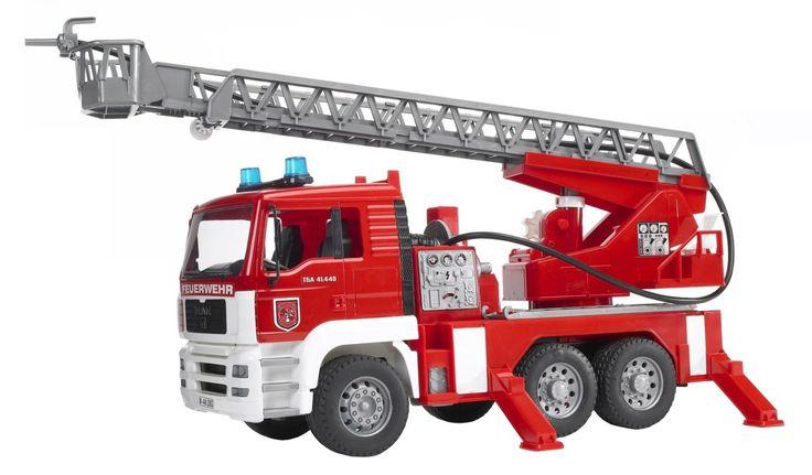 Bruder - 02771 - Camion de Pompier MAN avec Girophare, Lance, Lumière: Amazon.fr: Jeux et Jouets