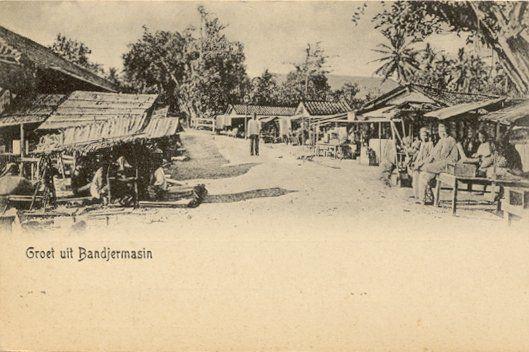 Markt in Bandjermasin 1900-1920.