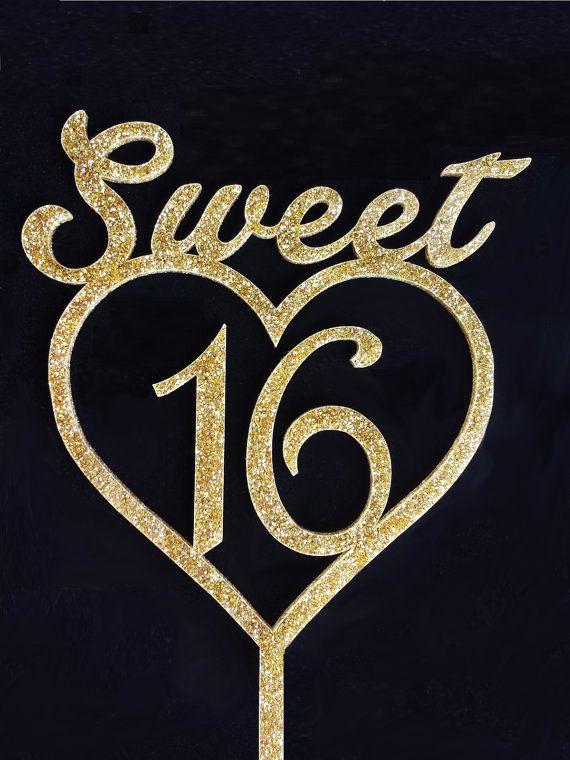Sweet Sixteen Cake Topper Acrylic Cake Topper  by TrueloveAffair, $15.00
