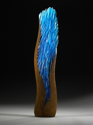 "*Art Glass - ""Electric Blue Spring"" by Alex Gabriel Bernstein"