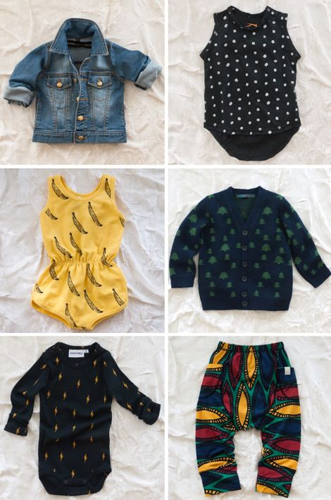 .my baby will own a banana print onesie. and perhaps a jean jacket