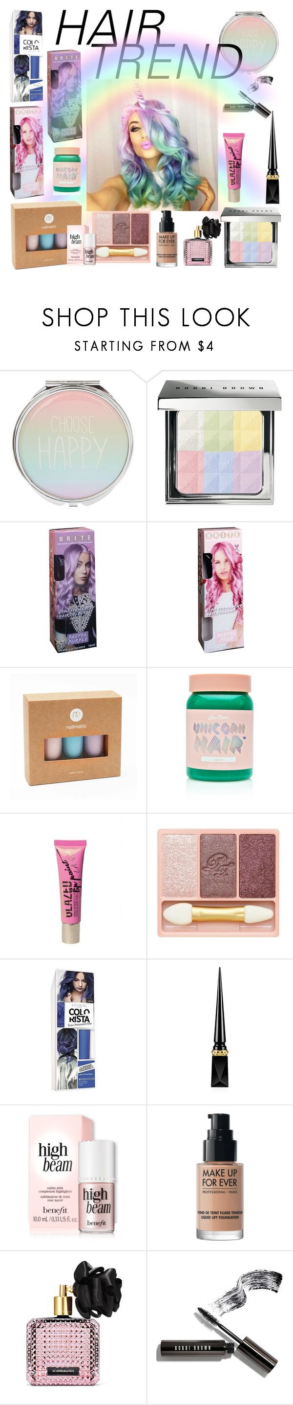"""""""Untitled #1073"""" by mentalterrorist on Polyvore featuring beauty, Bobbi Brown Cosmetics, Forever 21, Lime Crime, Paul & Joe, L'Oréal Paris, Christian Louboutin, MAKE UP FOR EVER and Victoria's Secret"""