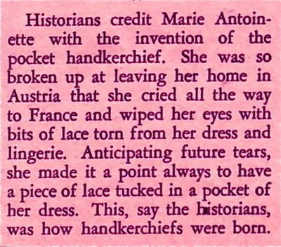 hankies!: History, Stuff, Facts, Marie Antoinette, Vintage Hankies, France, Vintage Handkerchiefs