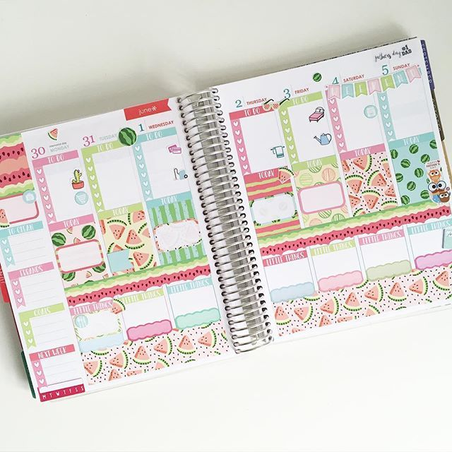 This week #beforethepen using the Watermelon kit from @caresspress