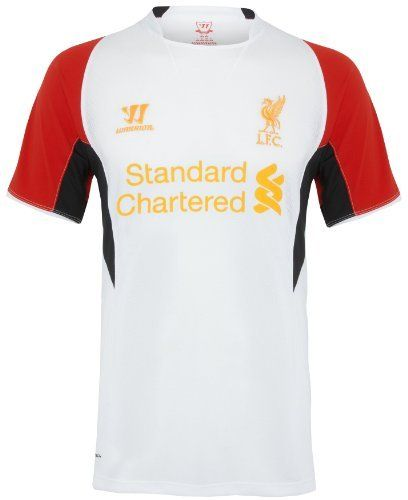 Liverpool Fc White Warrior Sports Training Jersey by Warrior. $41.46. Embroidered team crest and screen printed team name on the front. 4 way stretch back mesh and panels help keep you cool. Warrior Sports Training Jersey. Machine washable. 100% Polyester. The Liverpool White Training Jersey is a short sleeve design and has a brand new look for the 2012/13 season. The jersey will be used by the team for training and match purposes. The stylish new look means y...