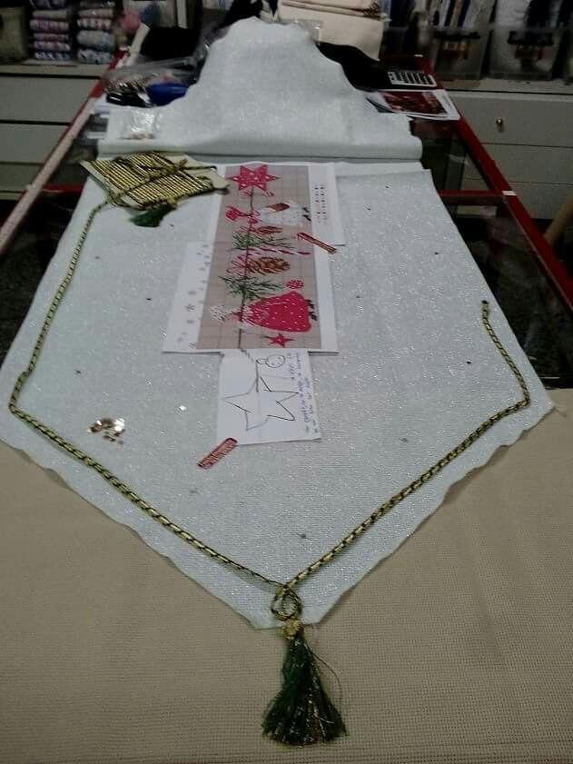 Ετοιμασία παραγγελίας για το ράνερ με την Χριστουγγενιάτικη κοκκινοσκουφίτσα.Ολα τα υλικά,ύφασμα 0.60Χ1.80, .μουλινέ,χρυσοκλωστές,τρέσα,φούντες,σχέδια,αστεράκια πούλιες=47.40 Για έξοδα αποστολής,α}απλό δέμα με κατάθεση του ποσού στην τράπεζα=1.50 ευρώ.β}ΕΛΤΑ αντικ/λή=3.80.γ}ΕΛΤΑ COURIER =7 ευρώ.