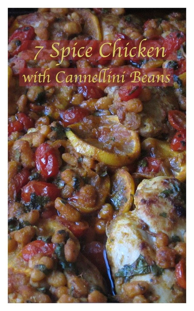 7 Spice Chicken with Cannellini Beans. Great dish for a group big or small!  To Die For Delicious! Click the Pic.  www.bestillandeat.com