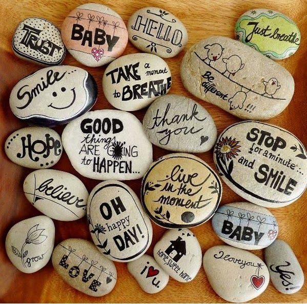 Crafts: Paint and decorate stones hand. Basic Tips and Ideas rebonitas