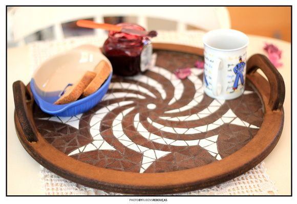 Mandala & Bandeja Redonda Sol Tribal | Patricia Iamin - Arte sem Fim | Elo7