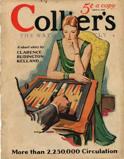 Colliers - playing Backgammon