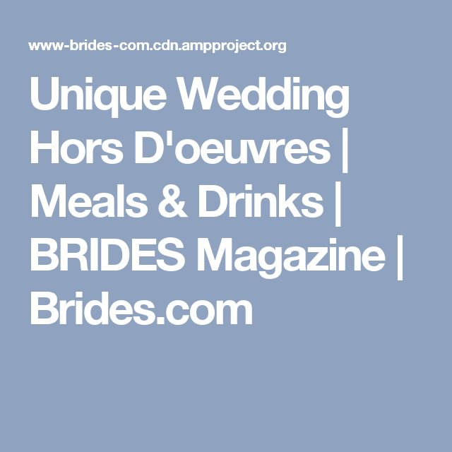 Best 25 Wedding hors doeuvres ideas on Pinterest