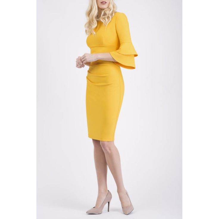 Meridian Frill Sleeve Dress