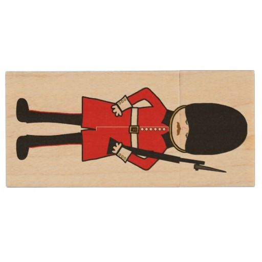 Queen's Royal Guard Wood USB 3.0 Flash Drive