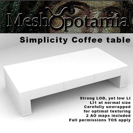 Meshopotamia Simplicity Coffee table 001 w AO Textures