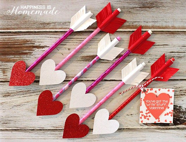 DIY Pencil Arrows | 35 Easy Valentine Crafts Both Kids And Adults Can Enjoy