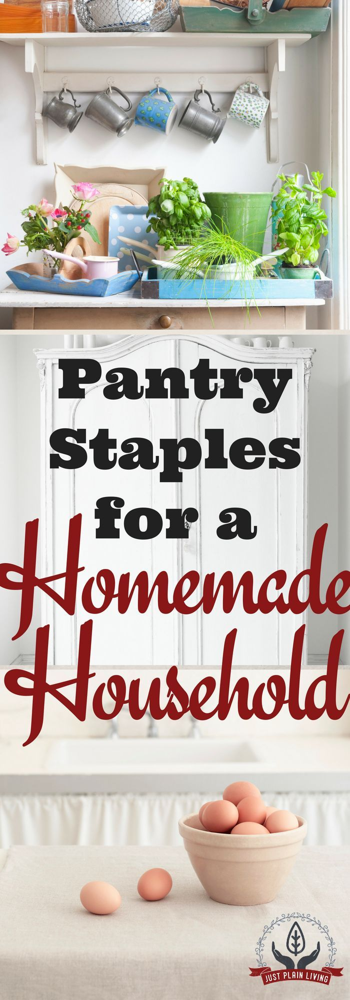 Save time and save money by having a pantry with the foods that you need to make meals from scratch.