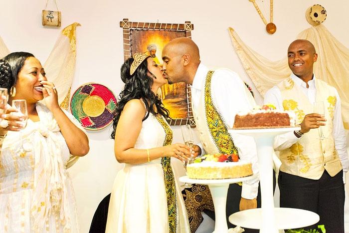Ethiopian Weddings are so colourful..  Andy & Hannah Ethiopian Wedding
