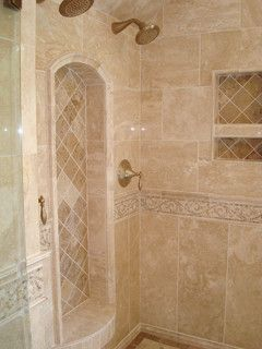 Cary Bath Remodel Traditional Travertine Traditional Bathroom Raleigh By Rebekah Frye