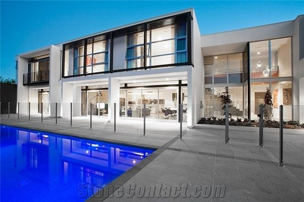 grey coping pools | Highland Grey Granite Pool Deck Pavers, Coping from Australia ...