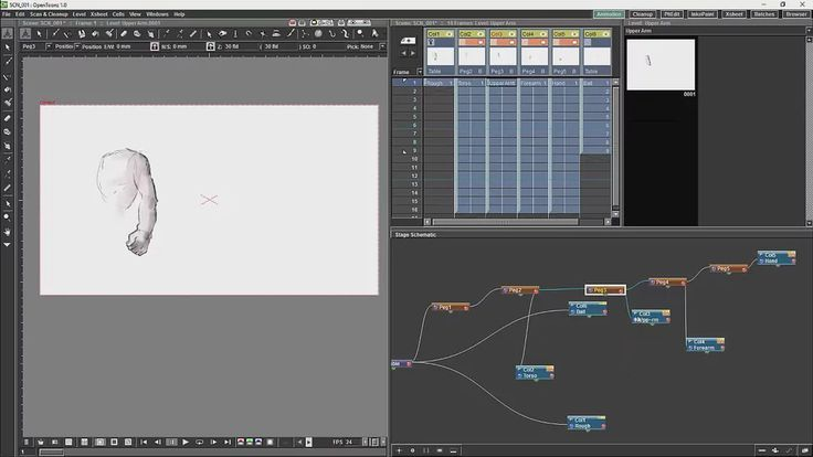Opentoonz Tutorial 7 The Schematic And Basic Cut-out Animation on Vimeo