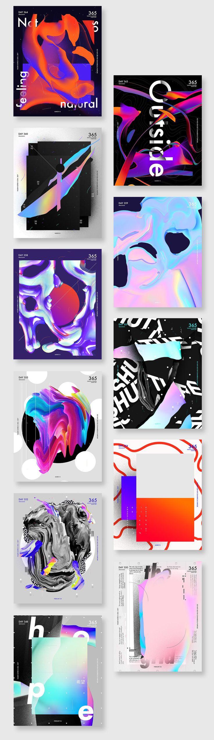 Poster design 2017 - Graphic Design Baugasm 365 Posters