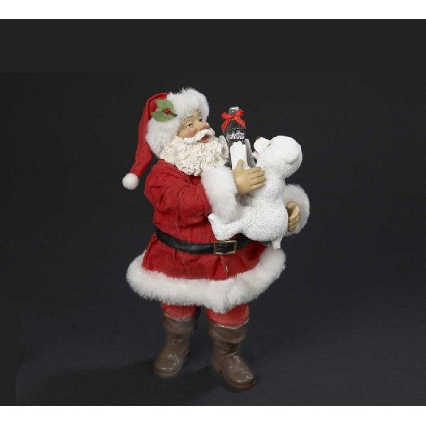 Coca-Cola Santa with Polar Bear Cub