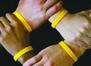 """""""Unity is Strength"""" in the fight against cancer. #LIVESTRONG #wristbands"""
