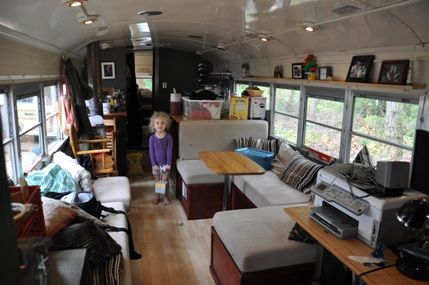 Meet Eliza Brownhome: a 1974 Bluebird school bus that houses a family ...