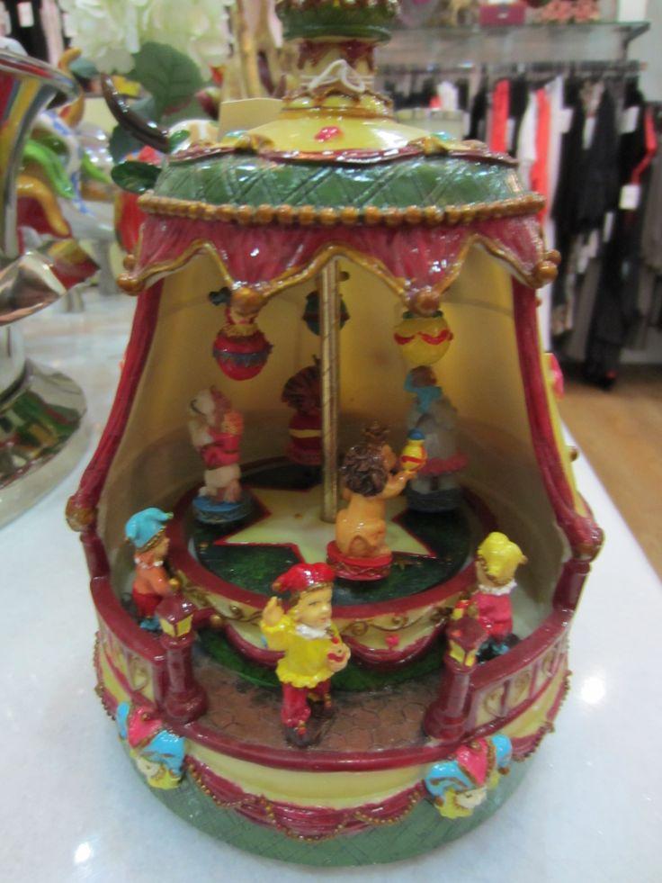 The magic of christmas with a musical carousel #christmas