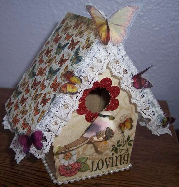 Altered Birdhouse Made By Slester3 From Scrapbook.com