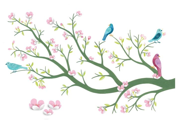 Djeco ~ Wall Stickers ~ Cherry Tree 3D