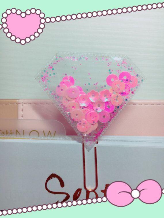 Lillà viola glitter rosa diamante di Shaker clip per deco