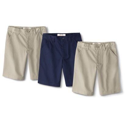 Cherokee Boys' School Uniform 3 Pack Chino Short Xavier Navy Vintage Khaki H